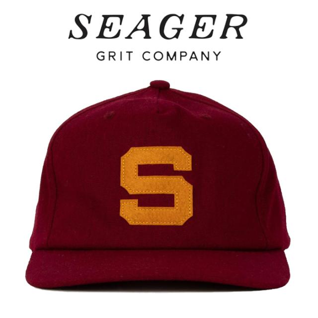 SEAGER(シーガー) ERA SNAPBACK MAROON 【キャップ 帽子】【シーガー キャップ】【定番 人気 シンプル アウトドア サーフィン スケ