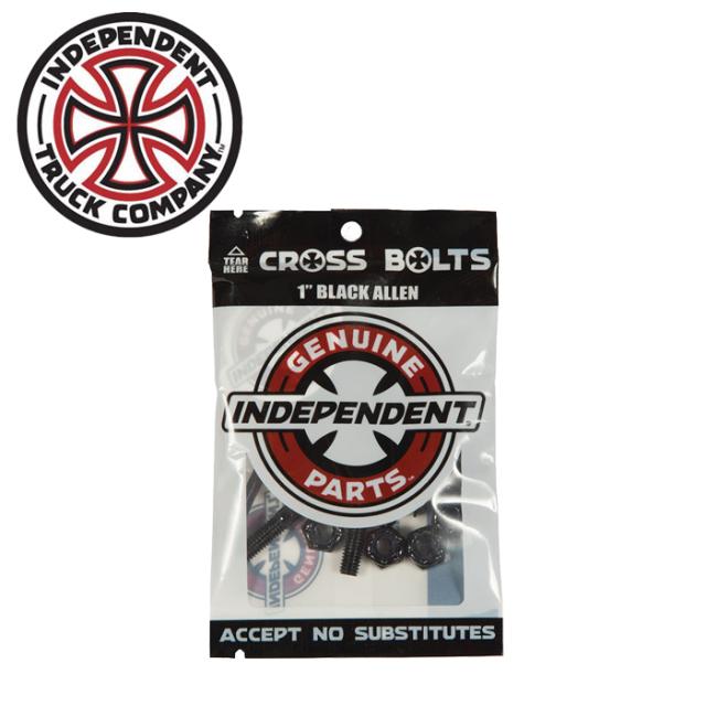 """Independent Trucks (インディペンデント) CROSS BOLTS 1"""" BLACK ALLEN 【インディペンデント】【スケートボード 】【スケボー パ"""