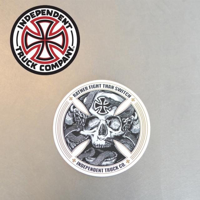 "Independent Trucks (インディペンデント) INDEPENDENT STICKER FTR SKULL 5"" 【インディペンデント】【スケートボード 】【スケボ"