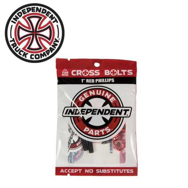 """Independent Trucks (インディペンデント) CROSS BOLTS 1"""" PHILLIPS BLACK/RED 【インディペンデント】【スケートボード 】【スケ"""