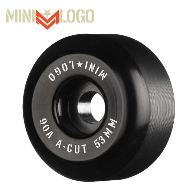"""MINI LOGO(ミニロゴ) A-CUT """"2"""" 53MM 90A BLACK 4PK 【ミニロゴ】【スケートボード 】【スケボー パーツ】【ウィール】"""