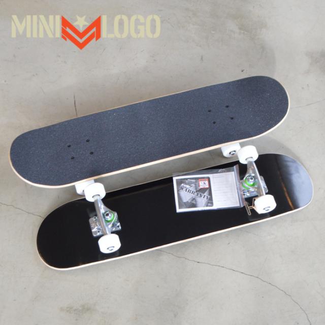MINI LOGO(ミニロゴ) DETONATOR SKATEBOARD COMPLETE BLACK 【スケートボード 】【スケボー】【コンプリート】【完成品 セット】【