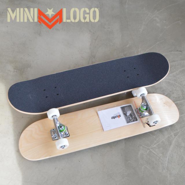 MINI LOGO(ミニロゴ) DETONATOR SKATEBOARD COMPLETE NATURAL 【スケートボード 】【スケボー】【コンプリート】【完成品 セット】
