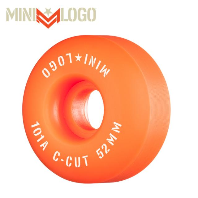 """MINI LOGO(ミニロゴ) C-CUT """"2"""" 52MM 101A ORANGE 4PK 【ミニロゴ】【スケートボード 】【スケボー パーツ】【ウィール】"""