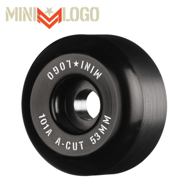 """MINI LOGO(ミニロゴ) A-CUT """"2"""" 53MM 101A BLACK 4PK 【ミニロゴ】【スケートボード 】【スケボー パーツ】【ウィール】"""