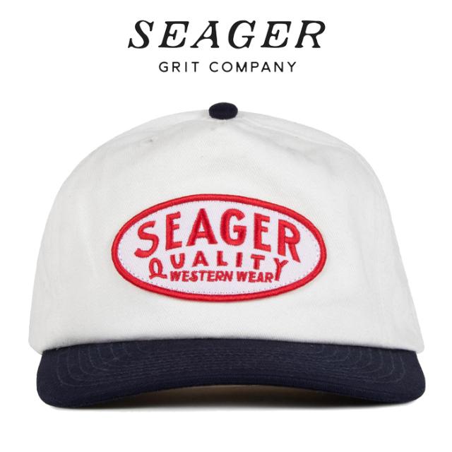 SEAGER(シーガー) OLD TOWN SNAPBACK HEMP WHITE/NAVY 【キャップ 帽子】【シーガー キャップ】【定番 人気 シンプル アウトドア