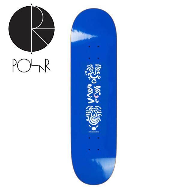 POLAR SKATE CO. (ポーラースケート)  SHIN SANBONGI - Faces - Blue (8.125inch)   【POLAR SKATE CO. POLAR ポーラースケート ポ