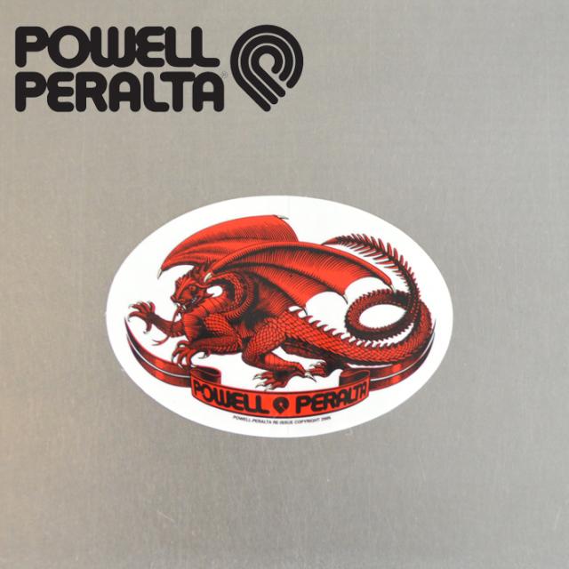 POWELL PERALTA (パウエルペラルタ) POWELL PERALTA STICKER OVAL DRAGON 【パウエルペラルタ】【スケートボード 】【スケボー】【