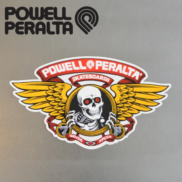 """POWELL PERALTA (パウエルペラルタ) POWELL PERALTA STICKER WINGED RIPPER RED 12"""" 【パウエルペラルタ】【スケートボード 】【ス"""