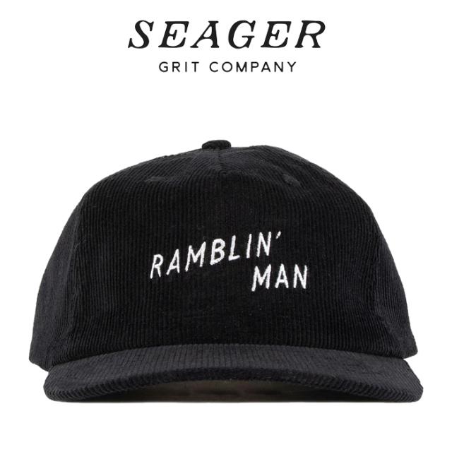 SEAGER(シーガー) RAMBLIN' MAN CORDUROY SNAPBACK BLACK 【キャップ 帽子】【シーガー キャップ】【定番 人気 シンプル アウトド