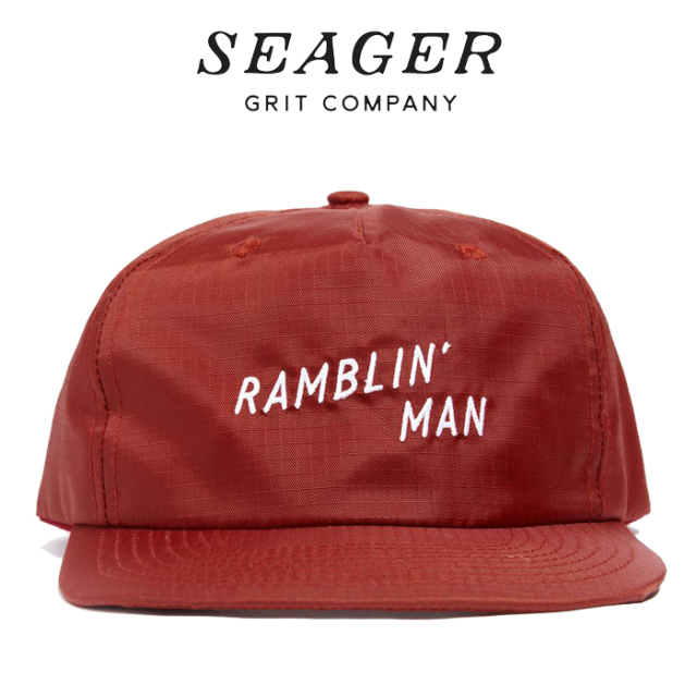 SEAGER(シーガー) RAMBLIN' MAN RIPSTOP NYLON SNAPBACK BRICK RED 【キャップ 帽子】【シーガー キャップ】【定番 人気 シンプル
