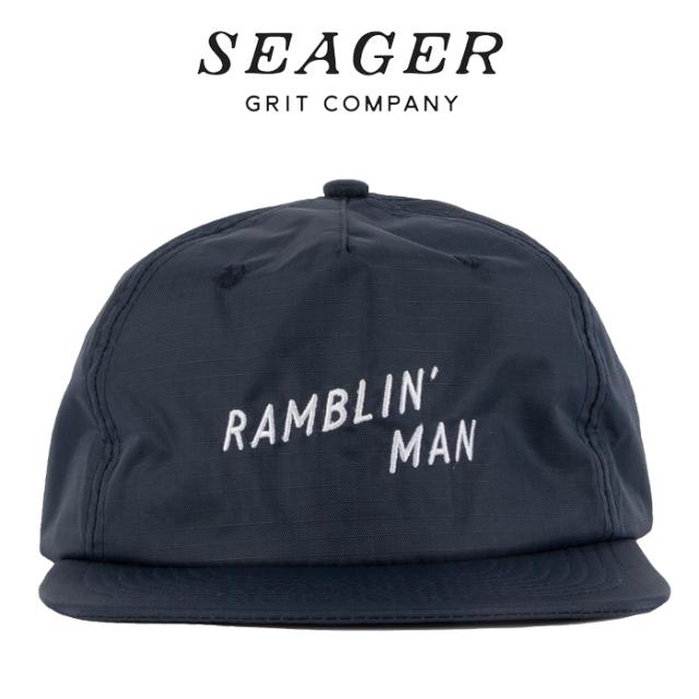 SEAGER(シーガー) RAMBLIN' MAN RIPSTOP NYLON SNAPBACK NAVY 【キャップ 帽子】【シーガー キャップ】【定番 人気 シンプル アウ