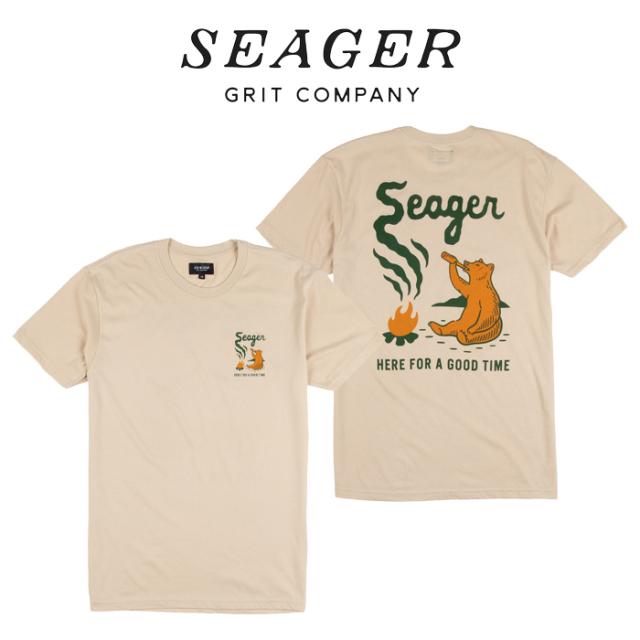 SEAGER(シーガー) SMOKEY TEE CREAM 【Tシャツ 半袖T】【定番 人気 シンプル アウトドア サーフィン スケートボード カリフォルニ