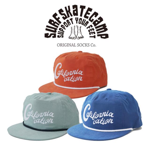 SURFSKATECAMP(サーフスケートキャンプ) Californiacation cap 【キャップ 帽子】