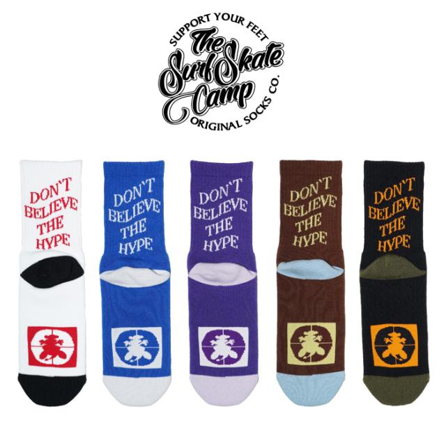 SURFSKATECAMP (サーフスケートキャンプ)  DON'T BELIVE THE HYPE SOCKS ソックス 靴下 SOCKS SOX