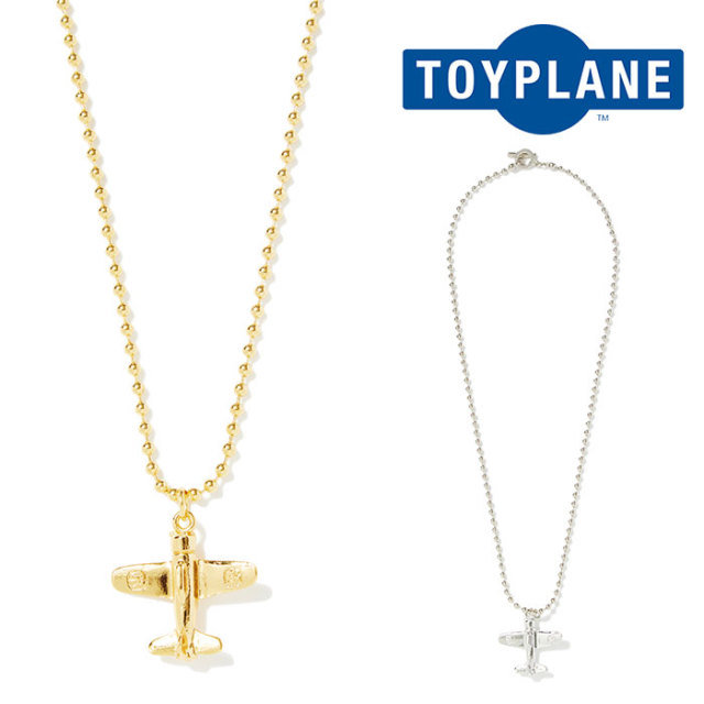 TOYPLANE(トイプレーン) AIRPLANE BALL CHAIN NECKLACE 【2019SPRING新作】【TP19-HAC09】【ネックレス】