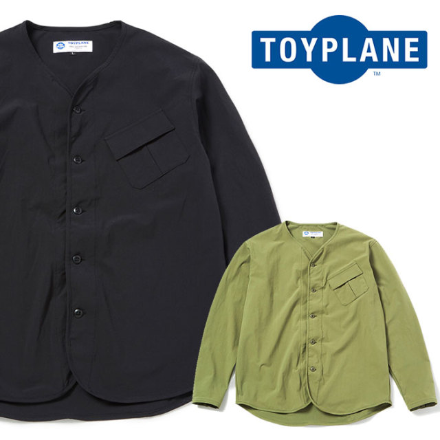 TOYPLANE(トイプレーン) L/S NO COLAR SHIRT 【2019SPRING先行予約】【キャンセル不可】 【TP19-HSH03】【シャツ】