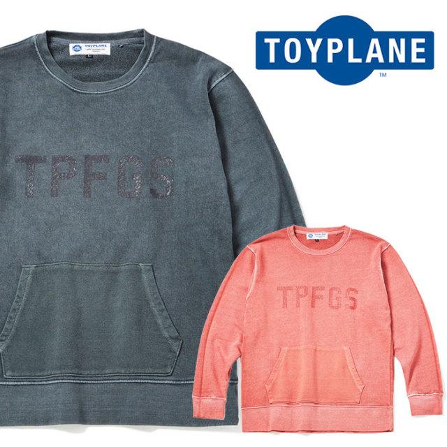 TOYPLANE(トイプレーン) PIGMENT DYE CREW NECK SWEAT 【2019SPRING先行予約】【キャンセル不可】 【TP19-HSW03】【スウェット】