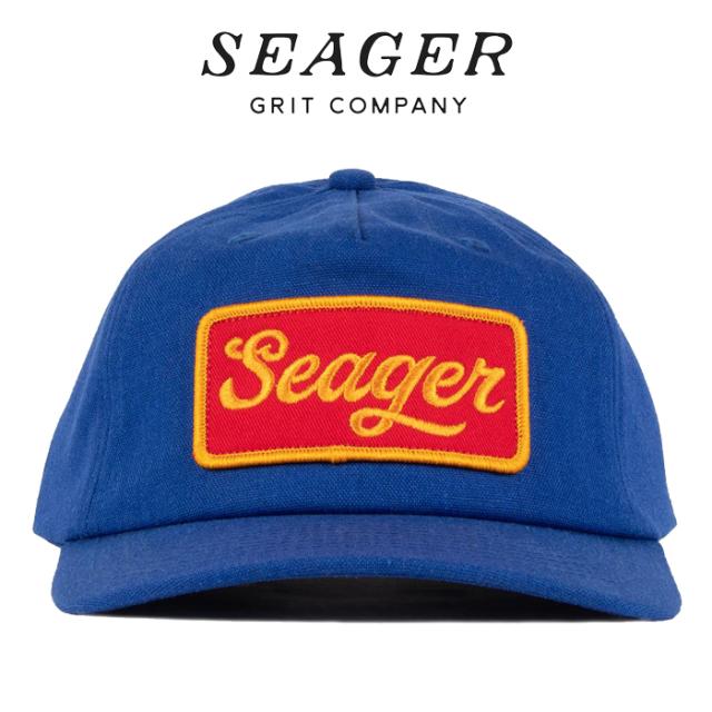 SEAGER(シーガー) UNCLE BILL HEMP SNAPBACK BLUE 【キャップ 帽子】【シーガー キャップ】【定番 人気 シンプル アウトドア サー