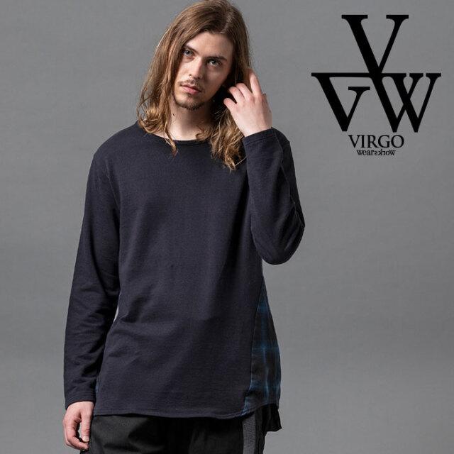 VIRGO ヴァルゴ バルゴ SIDE WING CHECK SEW 【カットソー】【VG-CUT-412】【2020AUTUMN&WINTER新作】【VIRGOwearworks】