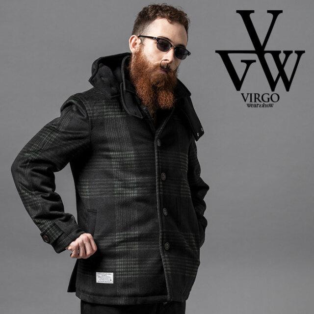 VIRGO ヴァルゴ バルゴ CHECK WOOL HOODIE COAT 【コート】【VG-JKT-331】【2020AUTUMN&WINTER先行予約】【キャンセル不可】【VIRG