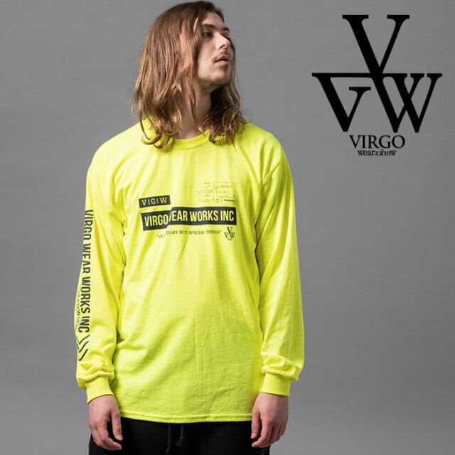 VIRGO ヴァルゴ バルゴ PLAN A LST 【ロングスリーブTシャツ】【VG-LSPT-67】【2020AUTUMN&WINTER新作】【VIRGOwearworks】