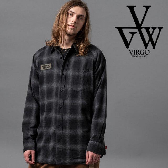 VIRGO ヴァルゴ バルゴ MIDDLE LONG CHECK SHIRTS 【チェックシャツ】【VG-SH-220】【2020AUTUMN&WINTER先行予約】【キャンセル不