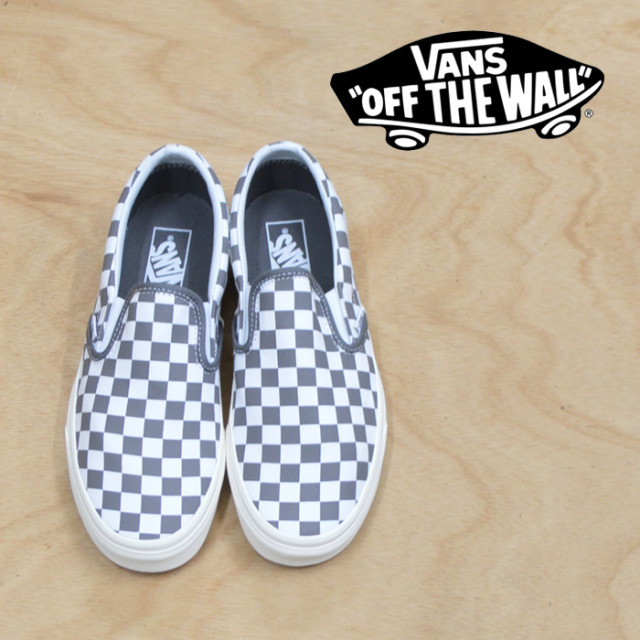 【VANS(バンズ)】 CLASSIC SLIP-ON (CHECKERBOARD) PERTER/MARSHMALLOW 【VANS スニーカー】【VN0A38F7U53】