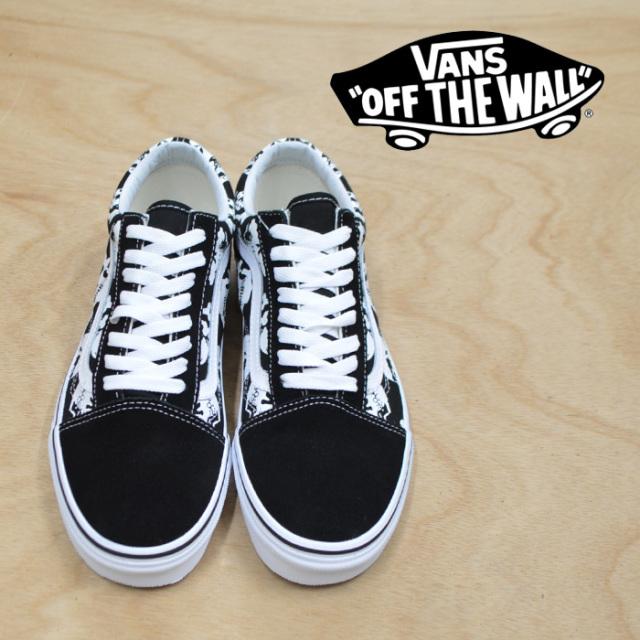 【VANS(バンズ)】 OLD SKOOL (SKULLS) BLACK/TRUE WHITE 【VANS スニーカー】【VN0A38G1H0B】