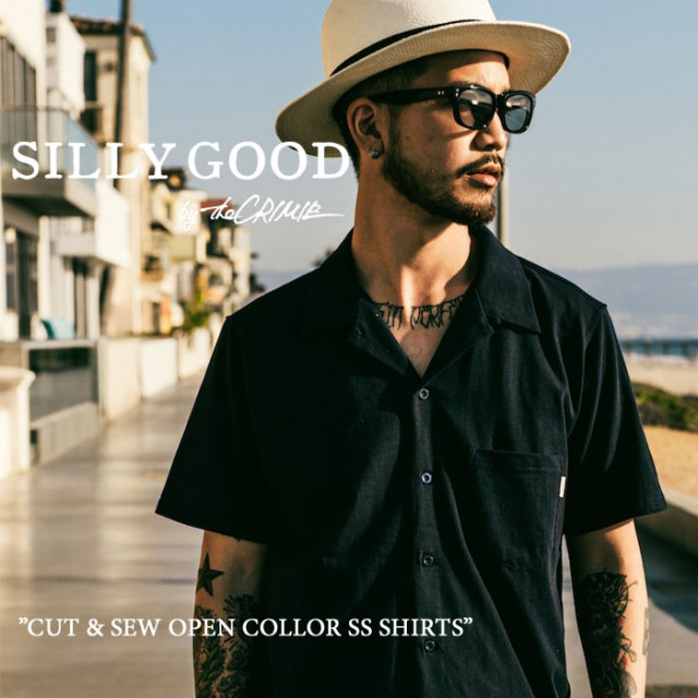 SILLY GOOD(シリーグッド) CUT & SEW  OPEN COLLOR SS SHIRTS 【2017SPRING/SUMMER新作】 【即発送可能】 【S1G1-MTCS05】