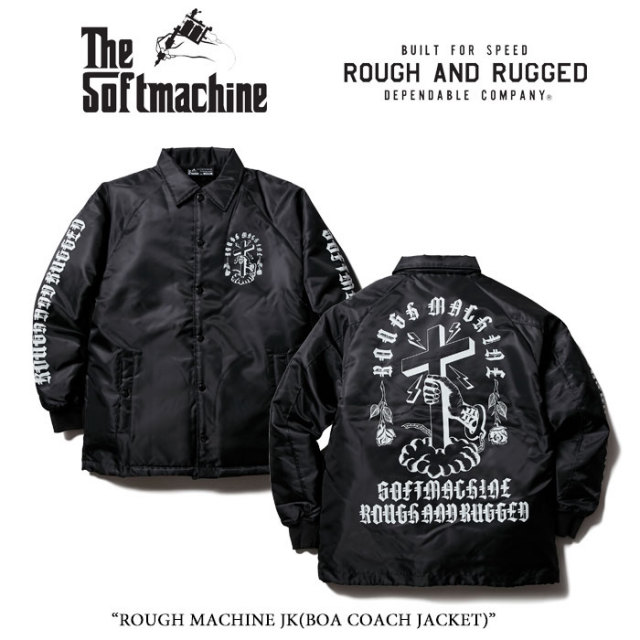 SOFTMACHINE(ソフトマシーン) ROUGH MACHINE JK(BOA COACH JACKET) 【15TH ANNIVERSARY 新作】 【送料無料】【即発送可能】 【RO