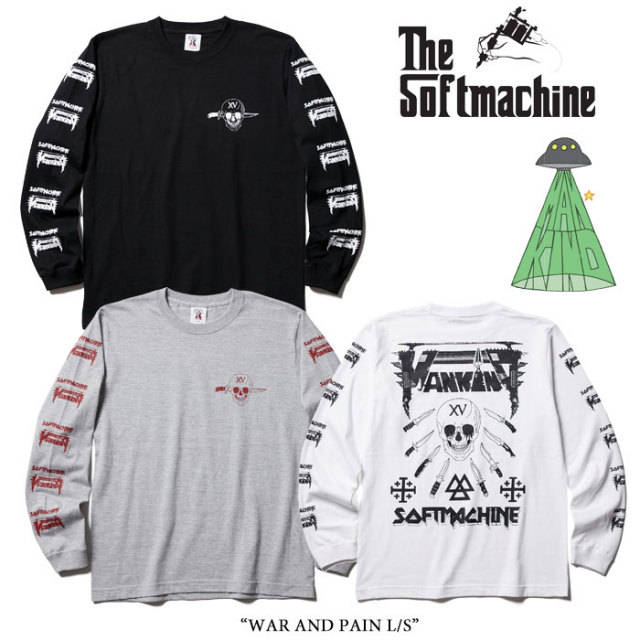 【SALE40%OFF】 SOFTMACHINE(ソフトマシーン) WAR AND PAIN L/S 【15TH ANNIVERSARY 新作】 【即発送可能】 【MANKIND】