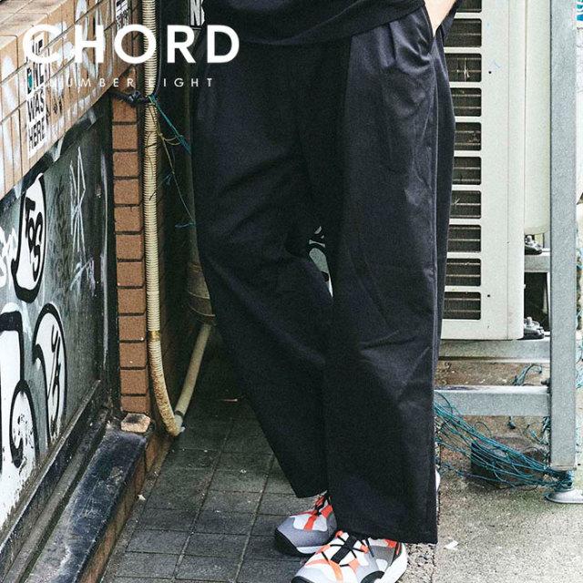 CHORD NUMBER EIGHT(コードナンバーエイト) WIDE PANTS 【ワイドパンツ】【ブラック ベージュ おしゃれ 人気】【CH01-02L1-PL08】