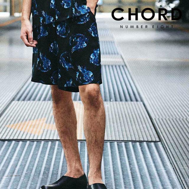 CHORD NUMBER EIGHT(コードナンバーエイト) HINOTORI SHORTS 【ショートパンツ】【ブラック ホワイト おしゃれ 人気】【CH01-02L1-
