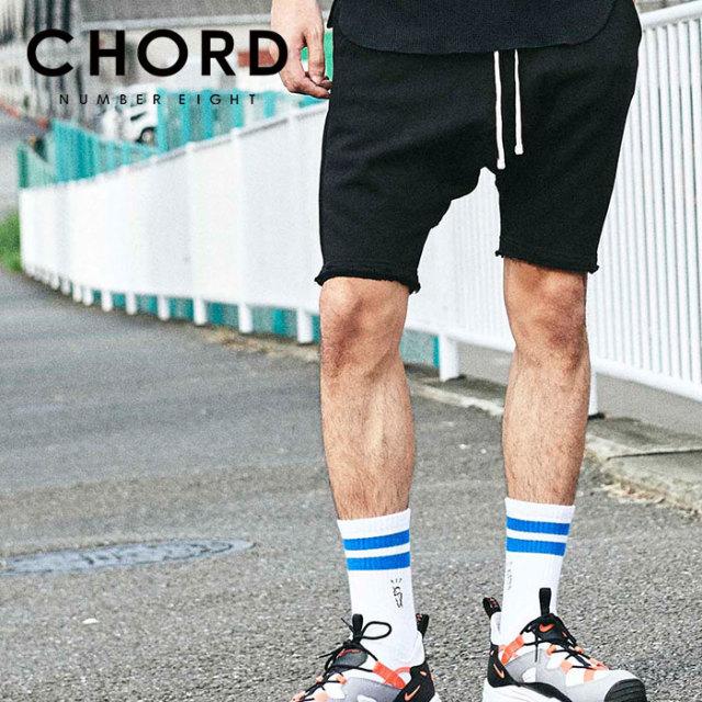 CHORD NUMBER EIGHT(コードナンバーエイト) SARROUEL SWEAT SHORTS 【サルエル ショートパンツ】【ブラック グレー おしゃれ 人気