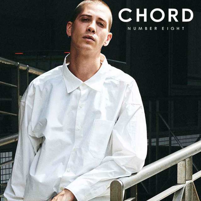 CHORD NUMBER EIGHT(コードナンバーエイト) TYPEWRITER BALLOON SHIRT 【バルーンシャツ】【ブラック ホワイト おしゃれ 人気】【C