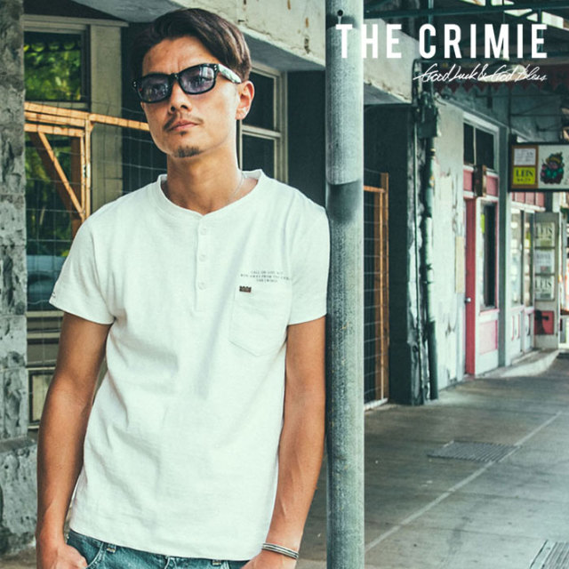 CRIMIE(クライミー) HENLEY NECK SLAB POCKET T-SHIRT 【2019SUMMER新作】 【CR01-01K3-CS02】【ヘンリーネック Tシャツ】