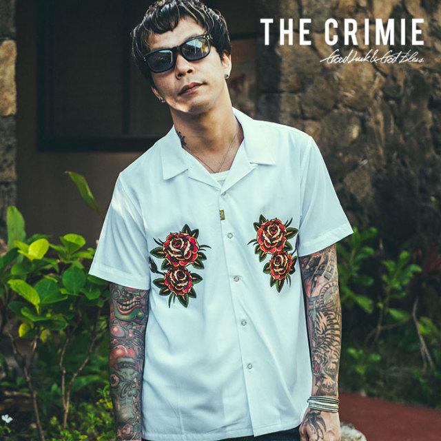 CRIMIE(クライミー) OPEN COLLAR ROSE SHIRT 【2019SUMMER先行予約】 【キャンセル不可】【CR01-01K3-SH04】【シャツ】