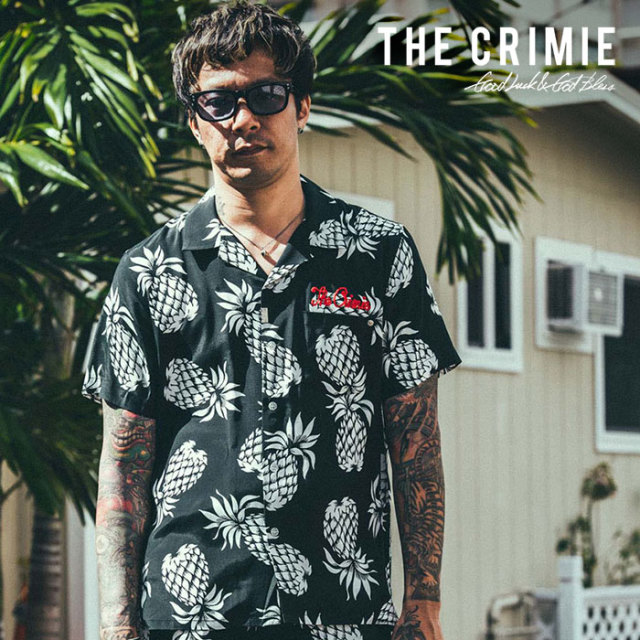 【SALE30%OFF】 CRIMIE(クライミー) ALOHA PINEAPPLE SHIRT 【2019SUMMER新作】【セール】 【CR01-01K3-SH08】【半袖 アロハ シ