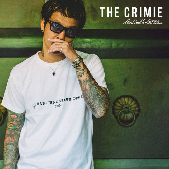 【SALE40%OFF】 CRIMIE(クライミー) NEEDLE WORKS LOGO T-SHIRT 【2019SUMMER新作】【セール】【CR01-01K3-TE04】【Tシャツ】