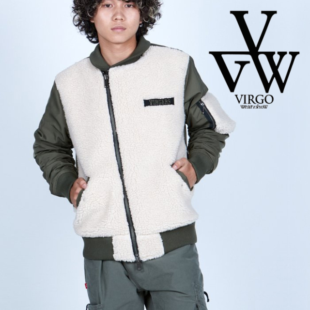 VIRGO ヴァルゴ バルゴ  VA-1 TYPE BOA 【ボア ミリタリー】【VG-JKT-343】【2021AUTUMN&WINTER先行予約】【キャンセル不可】【VIR