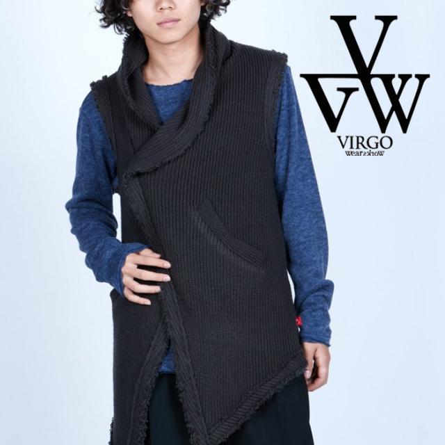 VIRGO ヴァルゴ バルゴ  FAVORITE DAMAGE KNIT VEST 【ニットベスト】【VG-KNIT-87】【2021AUTUMN&WINTER先行予約】【キャンセル不