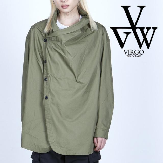 VIRGO ヴァルゴ バルゴ  UNDULATE SHIRT 【シャツ 長袖】【VG-SH-234】【2021AUTUMN&WINTER先行予約】【キャンセル不可】【VIRGOwe