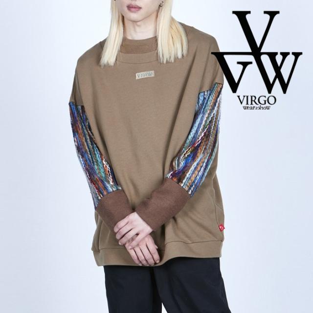 VIRGO ヴァルゴ バルゴ  ETHNIC ARMS SWEATSHIRT 【スウェット】【VG-SWT-139】【2021AUTUMN&WINTER先行予約】【キャンセル不可】