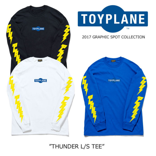 【SALE40%OFF】 TOYPLANE(トイプレーン) THUNDER L/S TEE 【2017GRAPHIC SPOT新作】 【即発送可能】 【TP17-GSPTE03】