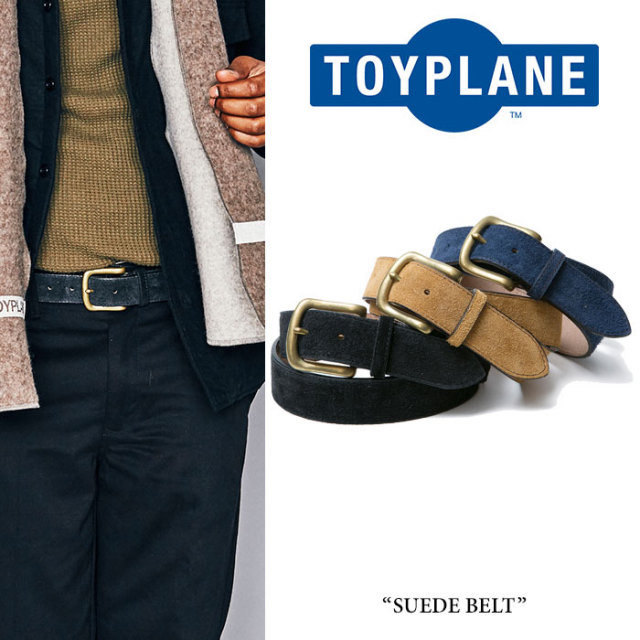 【SALE20%OFF】 TOYPLANE(トイプレーン) SUEDE BELT 【2016A/W新作】 【送料無料】【即発送可能】 【TOYPLANE ベルト】 【TP16