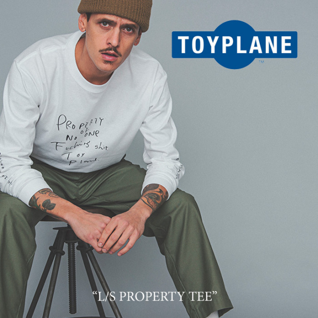 【SALE40%OFF】 TOYPLANE(トイプレーン) L/S PROPERTY TEE 【2017AUTUMN/WINTER新作】 【即発送可能】 【TP17-FTE05】