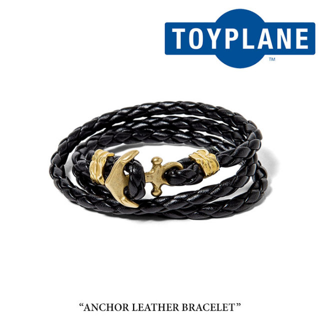 【SALE40%OFF】 TOYPLANE(トイプレーン) ANCHOR LEATHER BRACELET 【2017SUMMER新作】 【即発送可能】 【TOYPLANE ブレスレット