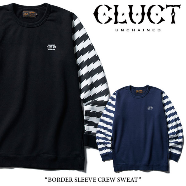 CLUCT(クラクト) BORDER SLEEVE CREW SWEAT 【2018AUTUMN新作】【#02797】