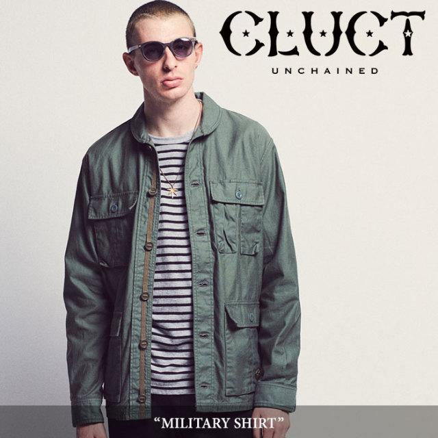 CLUCT(クラクト) MILITARY SHIRT 【2018AUTUMN先行予約】 【送料無料】【キャンセル不可】 【#02808】
